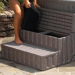 Trident Spa Storage Steps- Sandstone