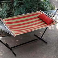 Cinnabar 11 Fabric Hammock, Red