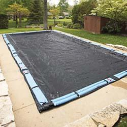 Deluxe 15 ft. x 30 ft. Mesh In Ground Pool Winter Cover, Black
