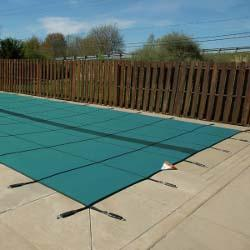 Original 24 ft. x 40 ft. Solid Rectangle Safety Cover, Green