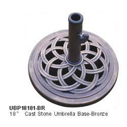18 inch Round Caststone Umbrella Base