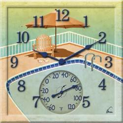 Poolside Clock/Thermometer