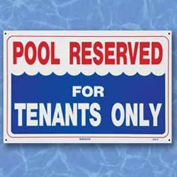 Tenants Only - Sign