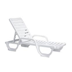 Bahia Patio Chaise Lounge, White