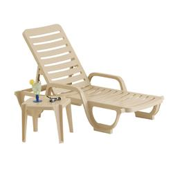 Bahia Patio Chaise Lounge, Sandstone