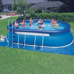 Easy Set 12 ft. x 20 ft. x 48 inch Oval Above Ground Swimming Pool