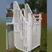 Safe and Secure Above Ground Pool Entry System with Gate