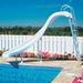 Rogue GrandRapids Left Turn Complete Pool Slide, Radiant White