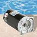 Emerson 56 Y-Frame Square Flange 6.5in. Diameter Single Speed 1HP Full Rated Premium Energy Efficient Pool and Spa Motor, 7.6-7.2/14.4A 208-230/115V