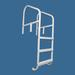 Saftron 36 inch Three Step Cross-Braced Ladder, White