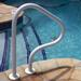 Saftron 40 inch Three Bend Return-to-Deck Handrail - White