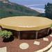 Standard 12 ft. Round Above Ground Pool Cover, Tan