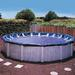 Standard 18 ft. Round Above Ground Pool Cover, Blue