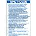 GA Pool Rules 2 Pieces 24 inch X 36 inch