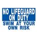 SC No Lifeguard 24 inch X 36 inch