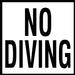 Glass Overlays No Diving Print Depth Marker for In Ground Pools