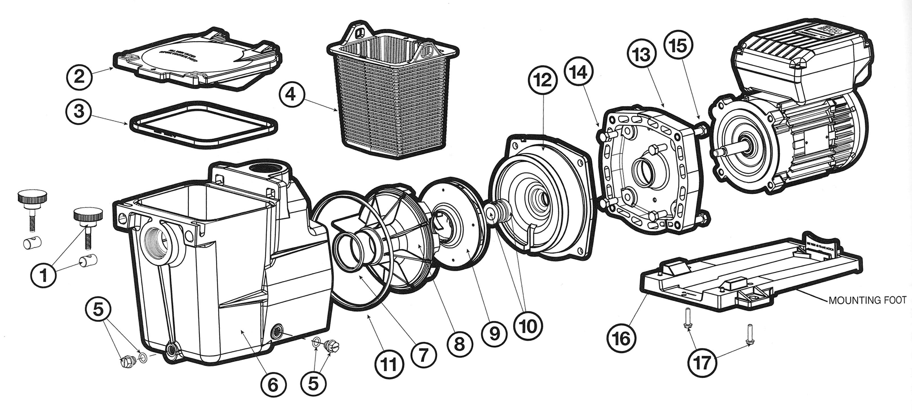 jandy valve parts diagram
