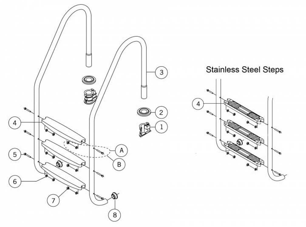 Pool Stairs Replacement Parts Image Of Above Ground Pool Ladders No Parts Found Replacement