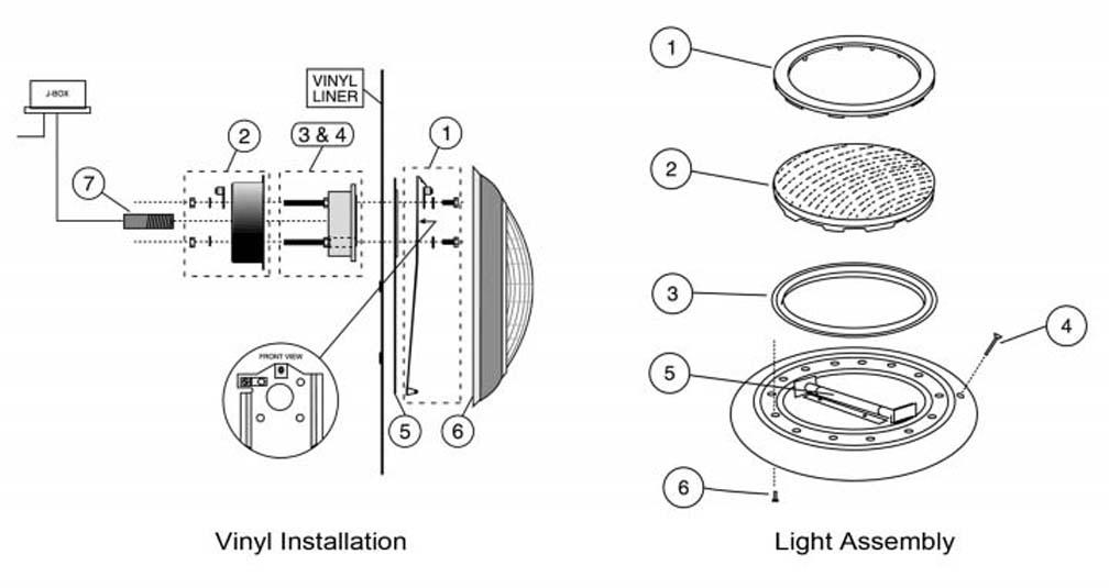 pentair pool lighting parts  parts for sta rite sunburst pool light parts pentair sta rite