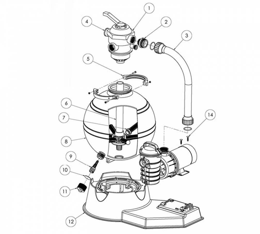 Parts Of A Pool Filter System: Pentair Meteor Top Mount Filter System, Post 2009