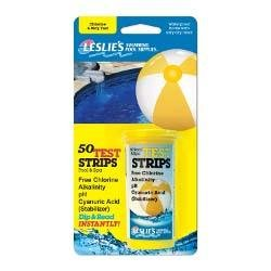 Leslie ft.s Chlorine 4-Way Test Strips, 50 Count