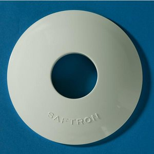 Saftron Vinyl Escutcheon (Single Pair), White