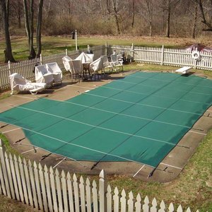 Economy 18 ft. x 36 ft. Solid Rectangle Safety Cover, Green