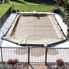 Standard 12 ft. x 20 ft. Oval In Ground Pool Cover, Tan