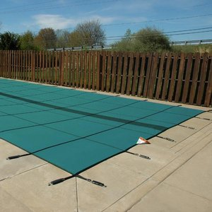 Original 18 ft. x 36 ft. Solid Rectangle Safety Cover, Green