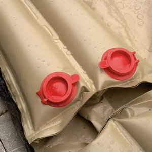 8 ft. Tan Water Bag SIngle Valve