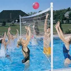 ProVolly Deck Mounted Pool Volleyball Set