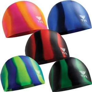 Silicone Swim Caps, Multi-Color
