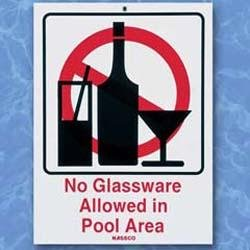 No Glassware - Sign