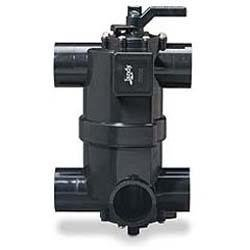 DEL Series 2-in-1 Neverlube Multiport Backwash Valve with Pre-Plumbed Union Kit