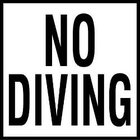 Ceramic Smooth - No Diving-2 inch Print Depth Marker for In Ground Pools
