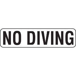 Vinyl Stickons NO DIVING Print Depth Marker for In Ground Pools