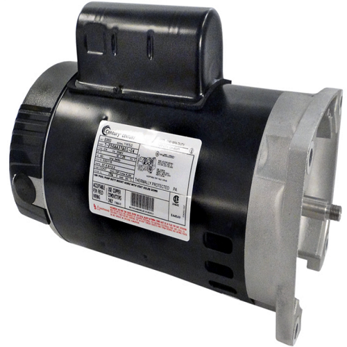 Century a o smith b2853 56y square flange 1 hp up rated for Square flange pool pump motor