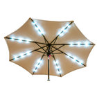Leslie's 75744 Bluetooth and LED Solar Umbrella