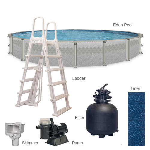 Leslie 39 s eden oval above ground pool packages with 52 wall for Above ground pool deals