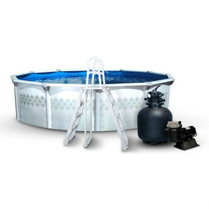 Leslie 39 s eden round above ground pool packages with 52 wall for Cheap above ground pool packages