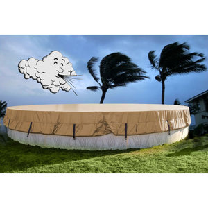 Easy Dome Hr24 Hurricane 24 Ft Round Above Ground Winter Cover 15 Year Warranty 28 Ft Actual