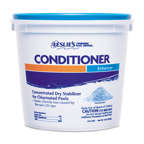 Leslie 39 s chlorine stabilizer water conditioner buckets for What is swimming pool conditioner