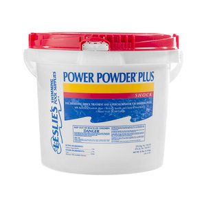 Leslie's Power Powder Plus 25lbs Chlorine Shock Bucket