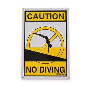National Stock Sign SW-20 Caution No Diving Sign