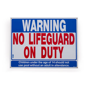 National Stock Sign SW-1H No Lifeguard on Duty Sign