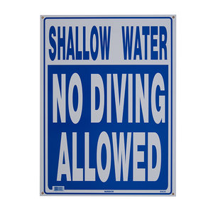 National Stock Sign SW-29 Shallow Water, No Diving Sign