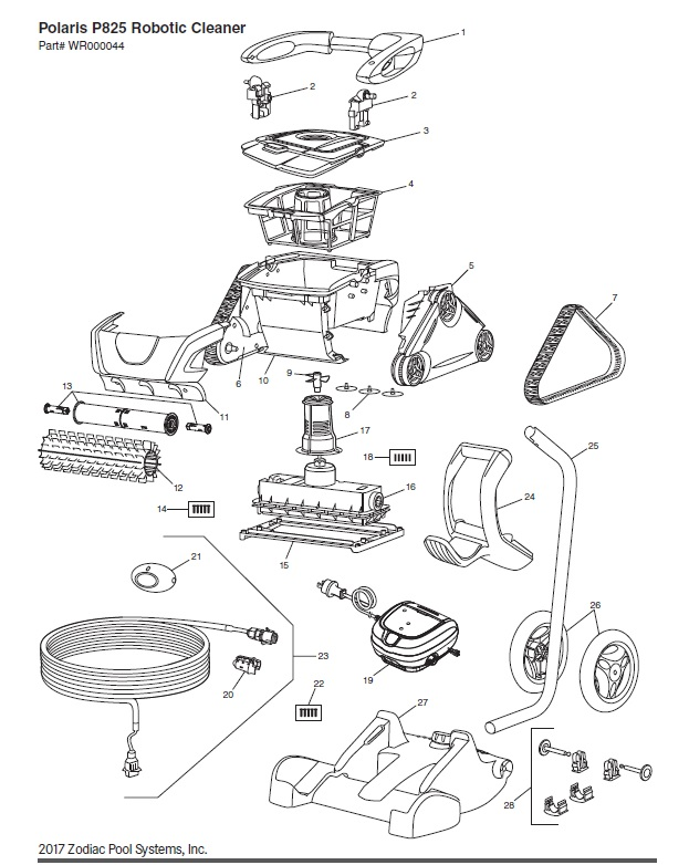 Polaris P825 Parts