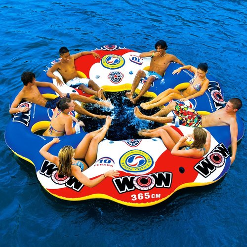 Wow Products 13 2060 Tube A Rama Floating Island 10 Person