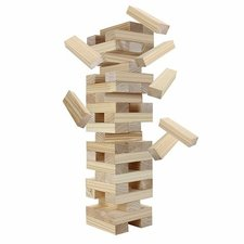 block out wood toppling tower