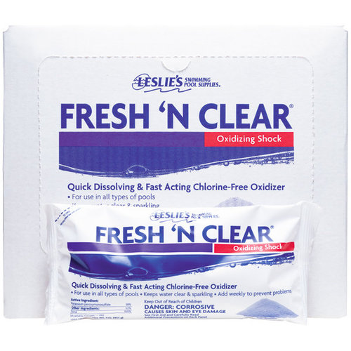 Leslie 39 s fresh n clear chlorine free pool shock 12 pack - How soon can you swim after shocking pool ...